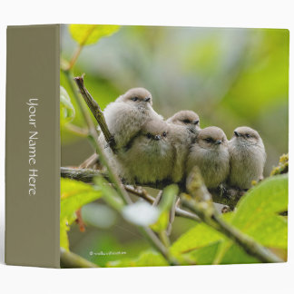 Heartwarming Quintet of Bushtits in the Plum Tree Binder