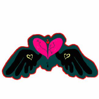 HeartWings Shape Pin Cut Out