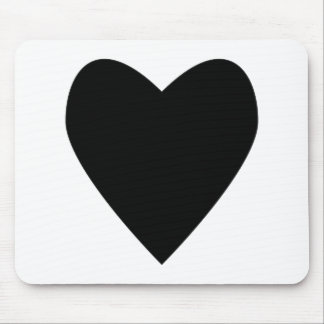 hearty black heart. mouse pad