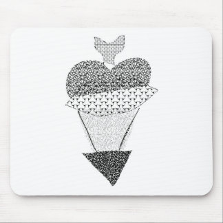 hearty-black-white mouse pad