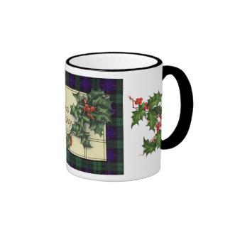 Hearty Christmas Greetings, Armstrong Tartan Ringer Coffee Mug