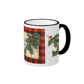 Hearty Christmas Greetings, Cunningham Tartan Coffee Mug