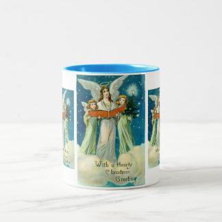 Hearty Christmas greetings Two-Tone Coffee Mug