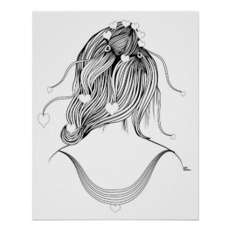 Hearty Coiffure Print