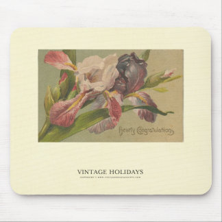 Hearty Congratulations Flowers Mouse Pad