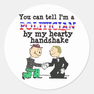 Hearty Handshake Classic Round Sticker