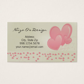 Hearty Hearts Party Business Card