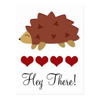 Hearty Hedgehog Postcard