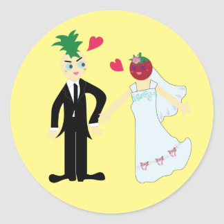 Hearty Marriage (Pine & Berry) Classic Round Sticker