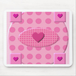 Hearty Pink Mouse Pad
