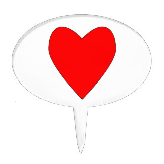 hearty red heart.png cake topper