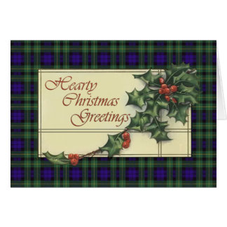 Hearty Season's Greetings,  Campbell  tartan Greeting Card