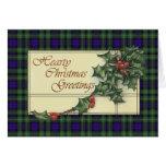 Hearty Season's Greetings,  Campbell  tartan Cards