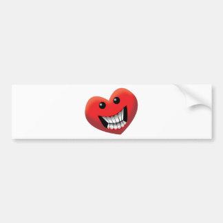 Hearty Smile Bumper Sticker