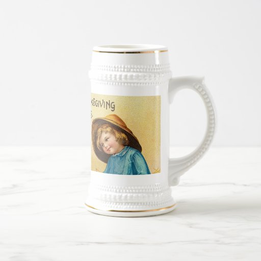 Hearty Thanksgiving Greetings Beer Stein