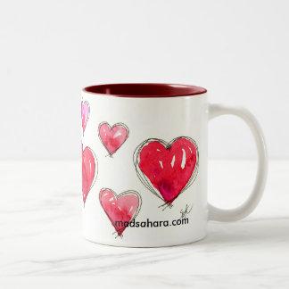 Hearty Valentine Two-Tone Coffee Mug