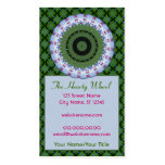 Hearty Wheel Kaleidoscope Mandala Business Card Template