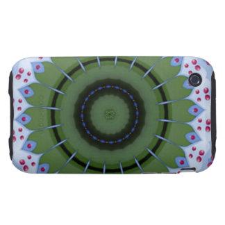 Hearty Wheel Kaleidoscope Mandala iPhone 3 Tough Cover