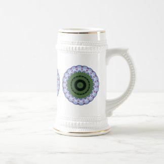 Hearty Wheel Kaleidoscope Mandala Mugs