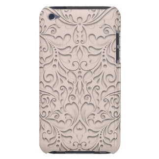 HeartyChic Coral linen Damask Heart iPod Touch Cover