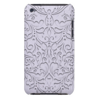 HeartyChic Lavender linen Damask heart iPod Touch Case-Mate Case