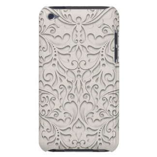 HeartyChic Natural linen Damask Heart iPod Case-Mate Case