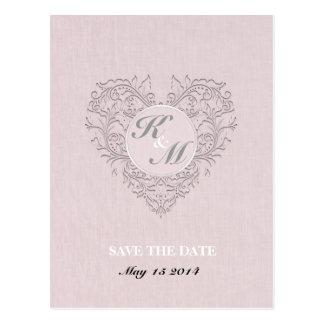 HeartyChic rosado Tarjeta Postal