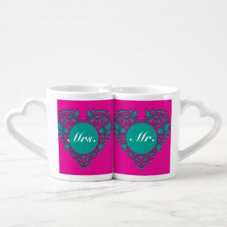 HeartyParty Magenta-Till Couples Coffee Mug