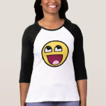 Heary eyes for women happy smiley t shirt