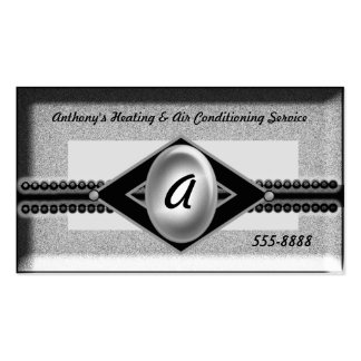 heat and conditioning grey opal business card