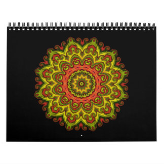 Heat and Passion - mandalas Calendar