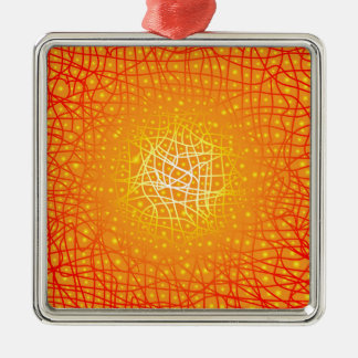 Heat Background Metal Ornament