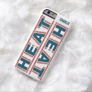 HEAT custom monogram cases Barely There iPhone 6 Case