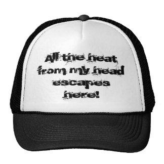 Heat escapes cap trucker hat