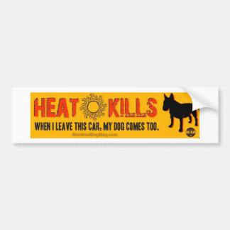 Heat Kills Bumper Sticker (white)