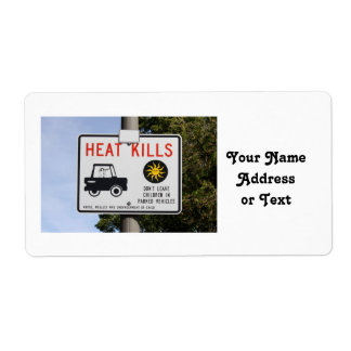 HEAT KILLS - Don't leave children in parked cars Custom Shipping Labels