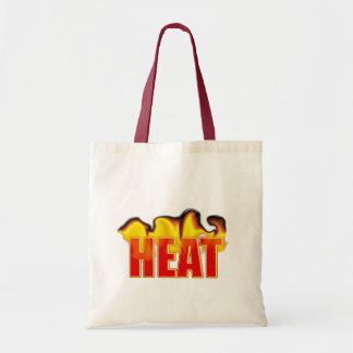 Heat Logo With Burning Flames Crafts & Shopping Tote Bag