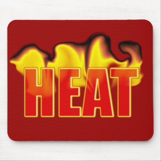 Heat Logo With Burning Flames Mousepad