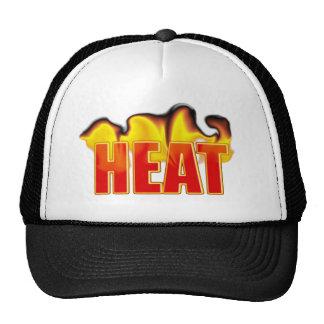 Heat Logo With Burning Flames Sports Team Club Trucker Hat