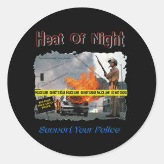 Heat_Of_Night Classic Round Sticker