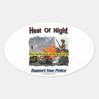 Heat_Of_Night Oval Sticker