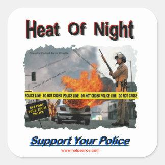 Heat_Of_Night Square Sticker