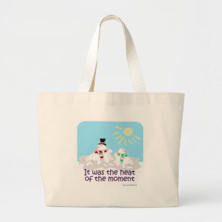 Heat of the moment large tote bag