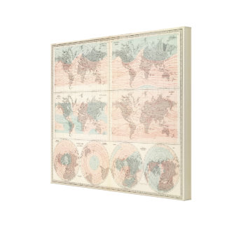Heat over globe canvas print