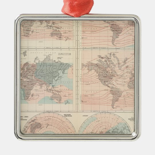 Heat over globe metal ornament