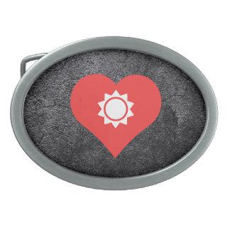 Heat Pictogram Oval Belt Buckle