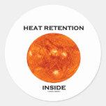 Heat Retention Inside (Sun) Stickers