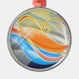 Heat Wave Metal Ornament