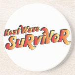 Heat Wave Survivor Beverage Coasters