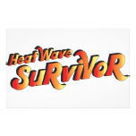 Heat Wave Survivor Custom Stationery